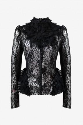 Винтажный пиджак с сеточкой X135