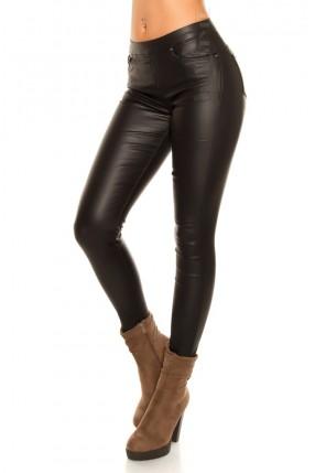 Кожаные брюки на флисе New Play