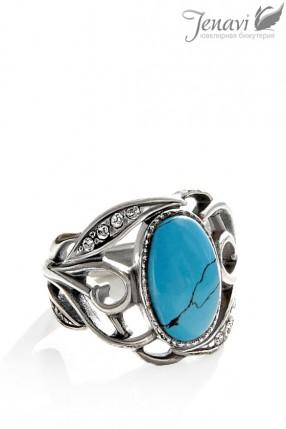 Кольцо с бирюзой J6273