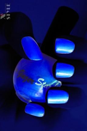 Неоновый синий UV-лак для ногтей Stargazer