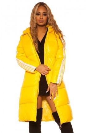 Удлиненная зимняя куртка с капюшоном M2140