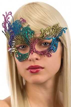 Разноцветная карнавальная маска A1045