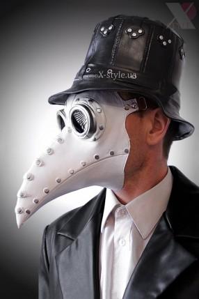 Белая маска чумного доктора XA1072