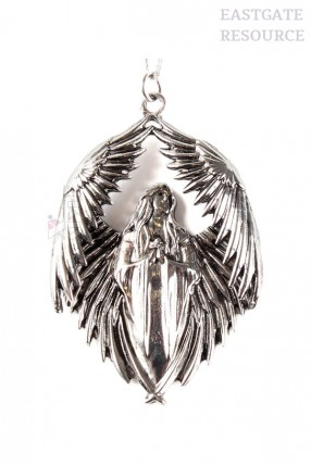 Оловянный кулон Ангел