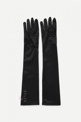 Длинные атласные перчатки A1171