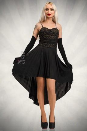 Платье с корсетом и юбкой плиссе KR147