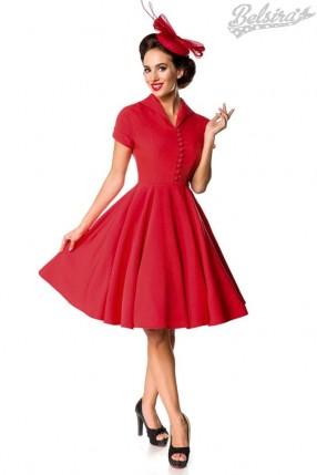 Красное платье Retro B5401