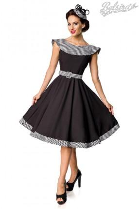 Ретро платье с воротником и поясом Belsira