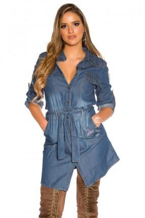 Джинсовая рубашка-платье MF5006