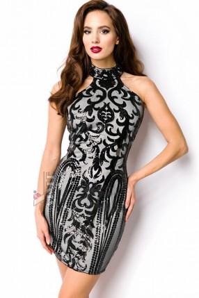Облегающее платье с блестками A5200