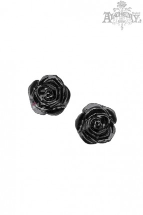 Серьги-гвоздики Black Rose