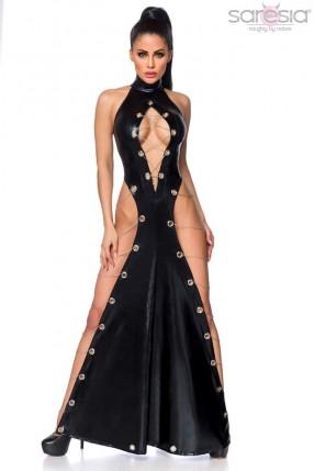 Откровенное платье в пол Saresia