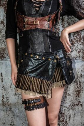 Мини-юбка с навесным карманом