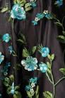 Винтажное платье с цветочным узором и вышивкой (105403) - материал