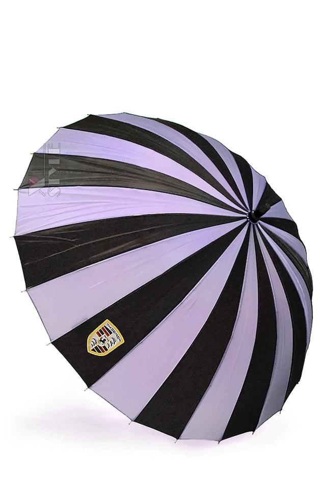 Зонт-трость 24 спицы (сиреневый/черный)