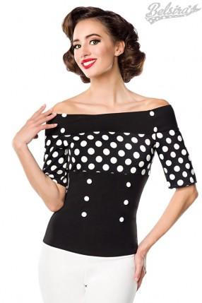 Блуза с лифом в горошек Belsira