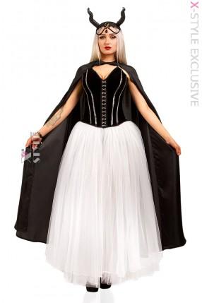 Костюм Demoniq (корсет, юбка, мантия, браслет, головной убор)