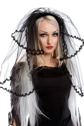 Черная фата невесты