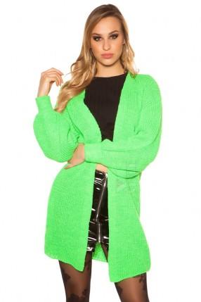 Кардиган женский (неоновый зеленый)