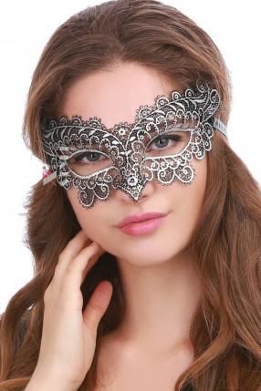 Ажурная серебристая маска Artistic