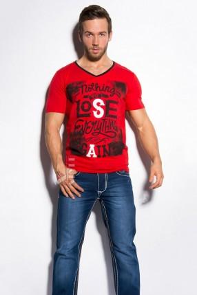 Красная футболка мужская MF2010