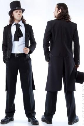 Мужской фрак с жилеткой, манишкой и шарфом