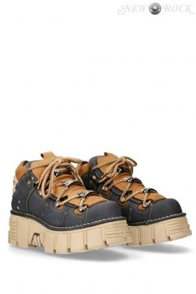 Кожаные кроссовки на платформе Alaska Marino