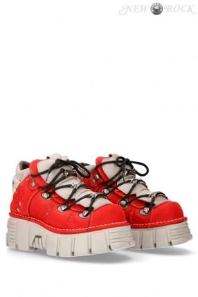 Красные кроссовки из нубука 106-C72