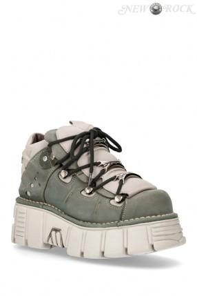 Кожаные кроссовки на платформе Alaska Cemento 106-C67
