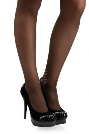 Замшевые черные туфли XC004