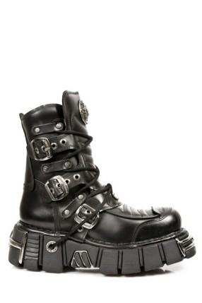 Ботинки с пряжками на платформе