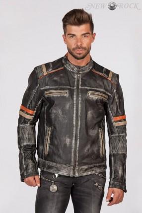 Мужская куртка из натуральной кожи New Rock