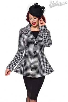 Винтажное пальто с баской