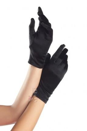 Короткие перчатки из атласа Amynetti