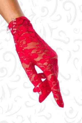 Красные кружевные перчатки AN1147