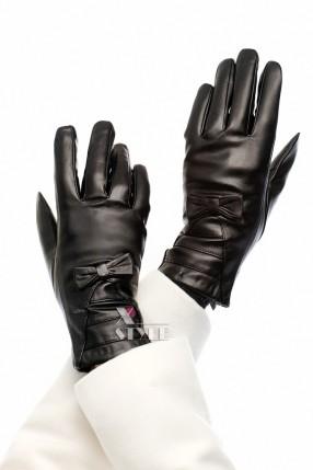 Зимние кожаные перчатки с мехом XA1134