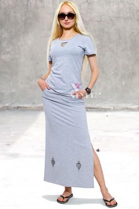 Летняя футболка и юбка с прорезями