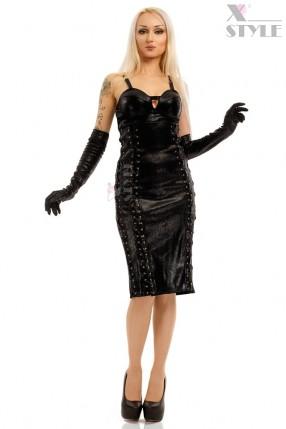 Платье миди под змеиную кожу X-Style