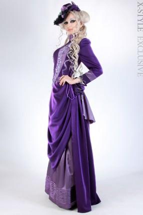 Прогулочное платье в стиле конца 19 ст.