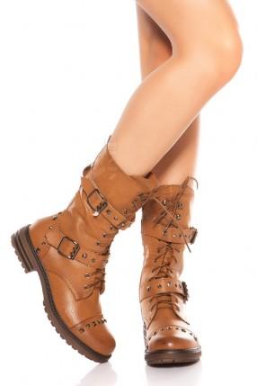 Байкерские ботинки женские MF10048