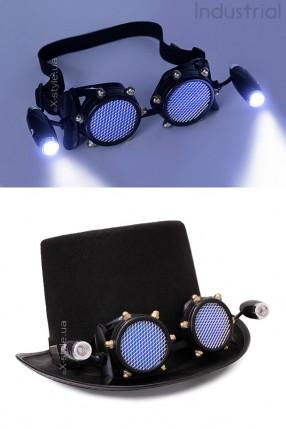 Черные гогглы с подсветкой I5103