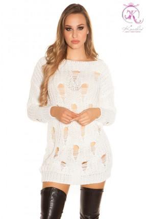 Рваное платье-свитер KC5372