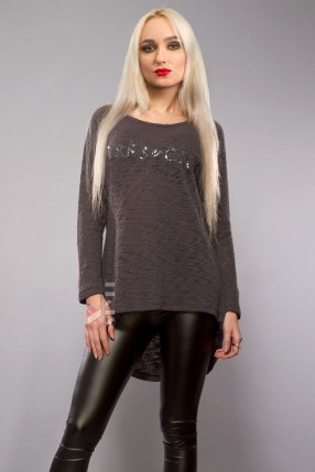 Хлопковый пуловер оверсайз X1140