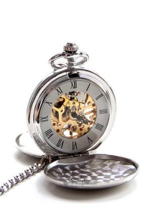 Двусторонние механические часы с цельной крышкой