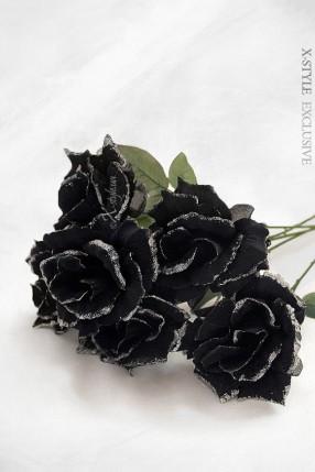 Черная роза (51 см)