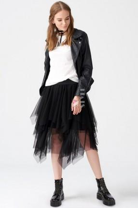 Многослойная черная юбка пачка XC7190