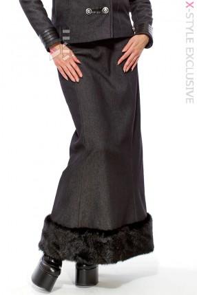 Длинная юбка с мехом X-Style