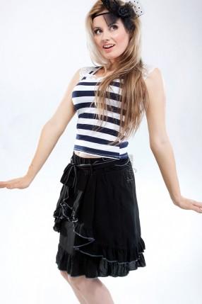 Летняя юбка с поясом