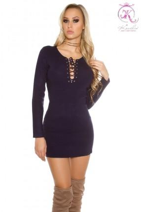 Вязаное мини-платье KouCla