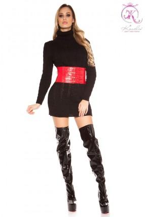 Черный свитер-платье KC5434